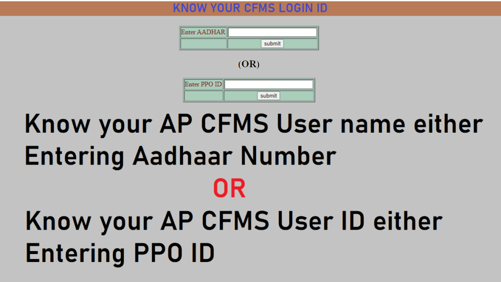 Know your CFMS Login