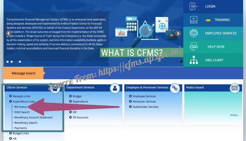 AP CFMS Bill Status